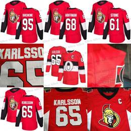 2018 100 Classic 65 Erik Karlsson 95 Matt Duchene 61 Mark Stone 68 Mike Hoffman 41 Anderson Mens Ottawa Senators Hockey Jerseys Stiched