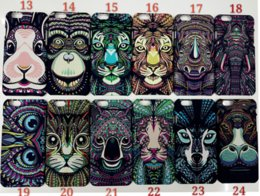 Wholesale King of Forest Lumisnous Case For iPhone plus S S Plus Animal Fashion plastic Cover PC Hard Back Skin Shell