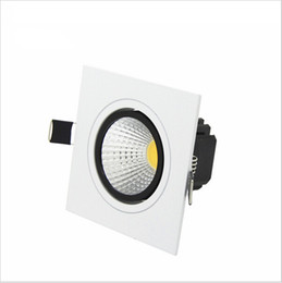 2016 New Super Bright Recessed Square LED DimmableDownlight COB 7W 9W 12W 15W LED Spot light decoration Ceiling Lamp AC85-265V