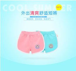 High quality 100 percent cotton baby girl and boy short sport pants for hot summer