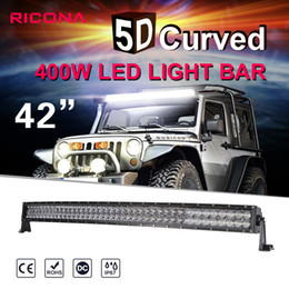 Canada SUFE 5D 42 pouces 400W Curved LED Light Bar 12V 24V Combo Beam pour Offroad Boat Car supplier 42 led light bars Offre