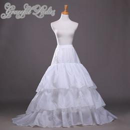 Plus Size Wedding Dress Petticoats Nylon A-Line Full Gown Chapel Train 3 Tier Slip Style   Wedding Underskirt For Bridal Gown