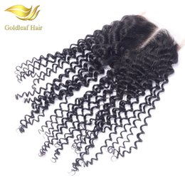 Cheap Free Three Middle Part Virgin Brazilian Kinky Curly Lace Closure Malaysian Peruvian Natural Color Soft Indian Kinky Curly Closures