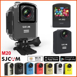 Wholesale Original SJCAM M20 Wifi Action Camera Gyro Waterproof M MP K fps HD Sport Camera helmet Video P fps Sj Cam mini Camcorder