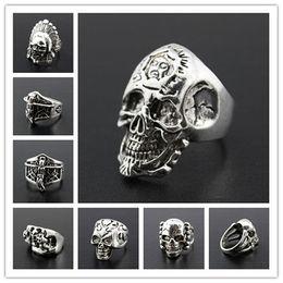 wholesale bulk lots 100pcs mixed styles men's plating vintage retro punk rock jewelry rings brand new