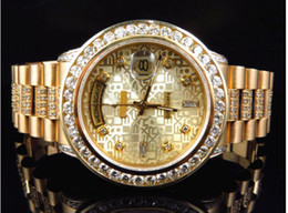 Wholesale LUXURY BRAND NEW Automatic Mens mm k Yellow Gold Mens Presidential Diamond Bezel Watch Ct Watch Men s Watches