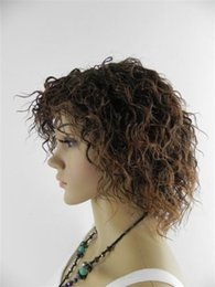 100% Brand New High Quality Fashion Picture full lace wigs>>NEW WIG COSPLAY SHORT CURLY DARK BROWN FULL WOMEN WIG