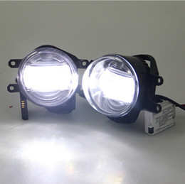 For Toyota Land cruiser Prado Camry Corolla RAV4 Highlander LED Fog Lamp with daytime running lights car styling accessories DRL