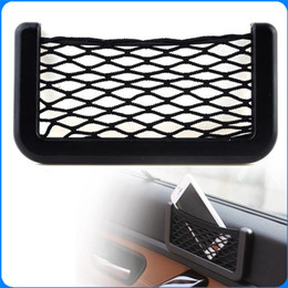 Wholesale Car Net Bag Car Organizer Nets X8cm Automotive Pockets With Adhesive Visor Car Syling Bag Storage for tools Mobile phone