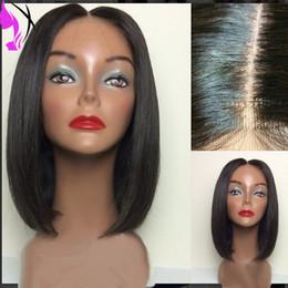 18 pouces perruque synthétique droite en Ligne-10-16 pouces pas cher perruques court bob noir / brun dentelle synthétique droite avant Perruques Glueless Synthétique Lace Wig avant pour les femmes noires
