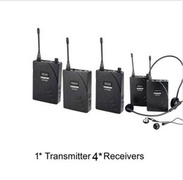 Wireless Acoustic Transmission System Tour Guiding Simultaneous Translation Audio-visual Eduation 1 Transmitter and 4 Receivers by aibierte