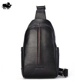 Bison Denim Noir / marron Sac à dos en cuir véritable Sac à dos en cuir vachette Travel Sport à partir de hommes bruns sacs à dos fournisseurs