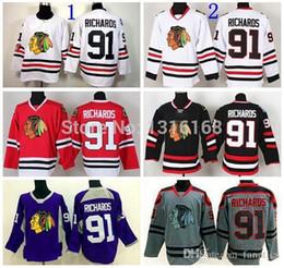 Wholesale 2016 Chicago Blackhawks Brad Richards Jersey Black White Red Gray Purple Stadium Series Blackhawks Winter Classic Jerseys