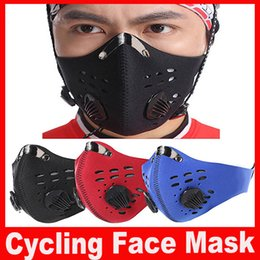 Wholesale 2016 Autumn Spring Bicycle Cycling Mask Anti dust Motorcycle Cycling Riding Snowboarding Climbing Half Face Masks Non woven Fabric