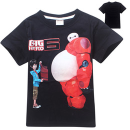Wholesale 2015 Latest DVD Movies Big Hero Best Animated Of The Year T Shirts Top Quality