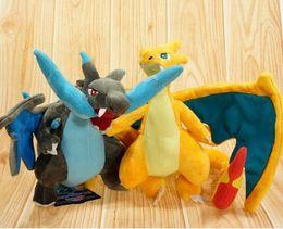 Mega tv en Línea-Hot 23-25cm Poke muñeca de peluche de juguete relleno Mega Evolution XY Charizard muñeca de peluche rellena de juguetes de dibujos animados regalo de Navidad para el cabrito