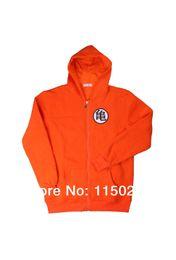 Wholesale Anime Dragonball Z Goku GUI Symbol Zip Up Hoodie Cosplay Jacket Coat Orange Costume Men Size S XXL nd