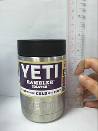 Wholesale 2016 Hot Sale oz Stainless Steel Colster Yeti Coolers Rambler Colster YETI Cups Cars Beer Mug Insulated Koozie oz in Stock