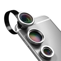 Wholesale dodocool Universal in Clip On Fisheye X Wide Angle X Macro Camera Lens Kit For iPhone and Other Android Smartphone DA49