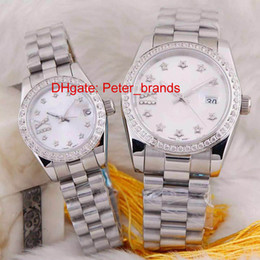 Wholesale Automatic brand fashion just couple watches cheap price high quality luxury date diamonds bezel wristwatch