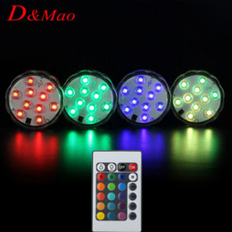 Wholesale 2016 Remote Control Colorful LED Aquarium Diving Light LEDs Waterproof Underwater Electronic Candle Lighting Fish Tank Lamp