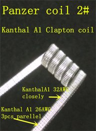 Hot sales Prebuilt Staggered Fused clapton Coils resistance Panzer Coils 1# 2# Vaporizer Coil Wire Vape Coil Fast Heating Juice Wicking