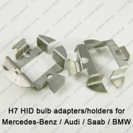 Wholesale 2pcs H7 HID Xenon Bulbs Adapters Holders For Audi A6 BMW X5 Mercedes Benz Saab install Aftermarket H7 HID Bulbs M35859 car