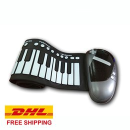 Wholesale DHL Roll Up Piano Keys Yamaha HZ Tone Silicone Foldable Keyboard Hand Rolling Battery or AC Adapter