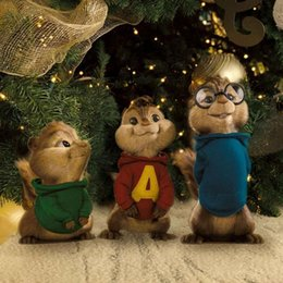 Wholesale 30cm Alvin and the Chipmunks cartoon dolls plush toy Boys on the hood kids gifts For Valentine s Day L423