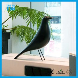 Wholesale Vitra Eames House Bird Solid Bird Furnishing Articles Pure H Solid Bird Furnishing Articles Pure Handmade Home Decoration Designer Furniture