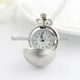 Wholesale Vine jewelry Fashion Jewellry Hot Sale New Style Silver Color Ball Pocket Watch jewelry silver watch device