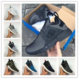 Wholesale With Box Men Womens top quality NMD XR1 Glitch Black White Blue Camo Pack ultra boost man running shoes sports shoes size Eur