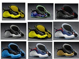 Wholesale FoampositeOne mens basketball shoes Optic Yellow Northern Lights lyimpic Zoom Air sneaker sneaker penny hardway athletic footwear