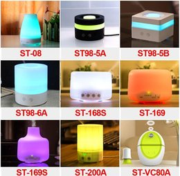 Wholesale Essential Oil Diffuser Portable Aroma Humidifier Diffuser LED Night Light Ultrasonic Cool Mist Fresh Air Spa Aromatherapy Fast Shipping