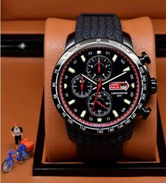Wholesale 2014 New style luxury watches men quartz chronograph watch miglia sport rubber band wristwatch floding clasp