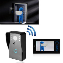"UK free shipping doorbell - 2.4G 7"" TFT Wireless Video Door Phone Intercom Security Camera Doorbell Remote Ring Free Shipping E5M1 order<$18no track"