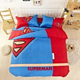 Wholesale SF EXPRESS Hot Batman Sheet Cartoon Boys Bedroom Captain America Bedding Set Quilt Cover Set