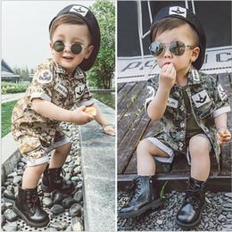 Wholesale Song Zhongji same paragraph summer models boy suit sun descended camouflage children suit