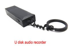 Free shipping U Disk Flash Audio Recorder USB Disk audio recorder supports TF Memory Card Max 32GB 5pcs lot