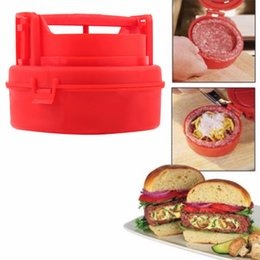 Wholesale Stuffed Burger Press Hamburger Grill BBQ Patty Maker Meat Mold Ground Beef Presses Kitchen Cooking Tool CS58