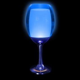 Wholesale Fashion art transparent led lamps acrylic wine glass lights restaurant bar dining room led wine glass lights