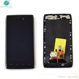 Wholesale 1x LCD Touch Screen Digitizer Bezel Frame Assembly For Motorola Droid Razr XT912 lcd with quot verizon quot