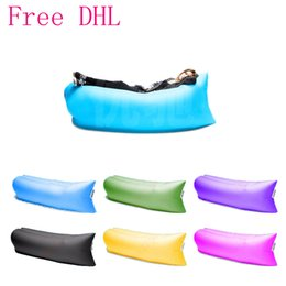 Wholesale 2016 Hot Sale CM Outdoor Inflatable Couch Camping Furniture Sleeping Compression Air Bag Lounger Hangout Fabric kg Bearing Free DHL