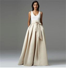 Wholesale Hot Long Satin Skirt Ruched Bowknot Trimmed Skirts For Women Floor Length Maxi Plus Size Formal Party Skirt Cheap Custom Made Size Color