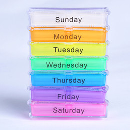 Wholesale Portable Medicine Weekly Storage Pill Day Tablet Sorter Box Container Case Organizer Health Care WB0229