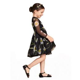 Pettigirl 2016 Hot Selling Summer Black Girls Dresses Yellow Flower Print A-line Dresses Children Fashion Dress GD90323-722F