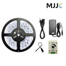 5M Warm Cool White LED Strip Light SMD 5050 + 12V 8A 96W Rotatory Knob LED Dimmer+12V 5A 60W Power Adapter US+DC Connector