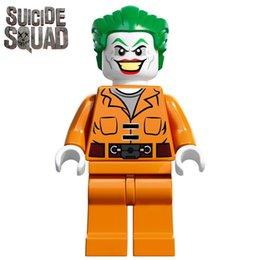 Wholesale THE JOKER PRISON JUMPSUIT SH061 Batman Suicide Squad Super Heroes Minifigures Assemble Building Blocks Kids Learning Toys