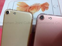 Wholesale goophone i7 iphone7 i7 fingerprint Genuine quad core mobile G smart phone dual card ultra thin inch low cost g shenzhen
