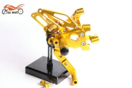 Wholesale KELI FUXING Racing CNC Adjustable Rearsets Rear set footpegs For DUCATI Panigale S R Golden